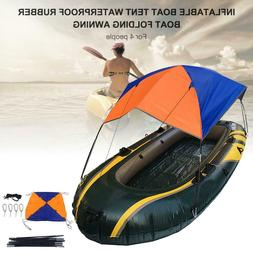 Inflatable Boat Kayak Accessories Fishing Sun Shade Rain Can