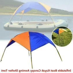 Inflatable Boat Kayak Canopy Awning Sun Shade Shelter Tent F