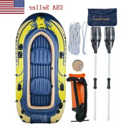 Inflatable Boat Kayak Inflatable Raft For 3-4 Person Fishing