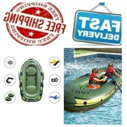 Inflatable Boat Set, Inflatable 2/3 Person Boat PVC Kayak wi