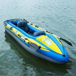 Inflatable Canoe Boat Rafting Kayaking 2Person Oar & Hand Pu