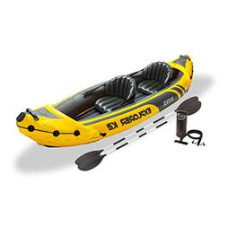 Inflatable Fishing Kayak 2 Person With Aluminum Oars And Air
