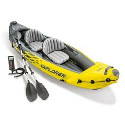 Inflatable Kayak 2 Person Seat Paddle Oars Hand Pump Include
