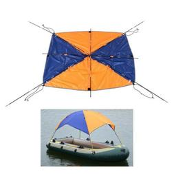 Inflatable Kayak Awning Canopy Fishing Tent Camping Sun Shad