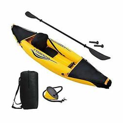 Blue Wave Inflatable Kayak Heavy Duty Fabric Seat 1 Person O