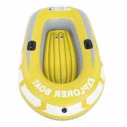 Inflatable Kayak 2 Person Boat Fishing Canoe Rowing Folding