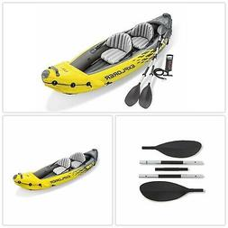 Inflatable Kayak Set 2 Person Aluminum Oars High Output Air