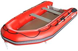 Saturn 12 ft Red Inflatable Sport Motor Boat Dinghy Raft Ten