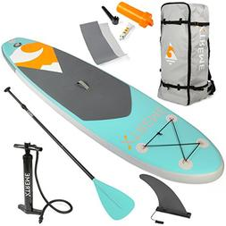 XtremepowerUS Inflatable Paddle Board Set,Adjustable Paddle,