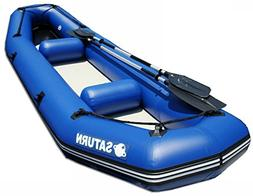 Saturn 12 ft Inflatable River Fishing Raft / Ducky Boat - Bl