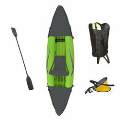 Inflatable Sport Kayak with Rotatable Paddle - 9 ft_1-Person