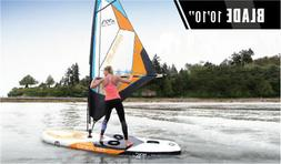 Aqua Marina Inflatable Sup Board with Sail surf Board Stand