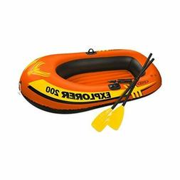 Intex Explorer 200 Inflatable 2 Person River Boat Raft Set w