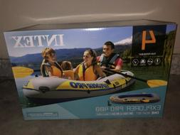Intex Inflatable Explorer Pro 400 4-Person Boat with Oars &