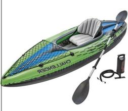 Kayak Intex Challenger K1 One Person Inflatable Oars Pump Se