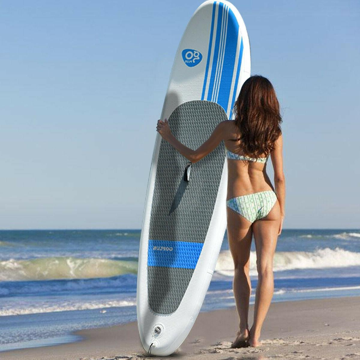 10 Foot Stand Up Board SUP Kayak White Fin Bag