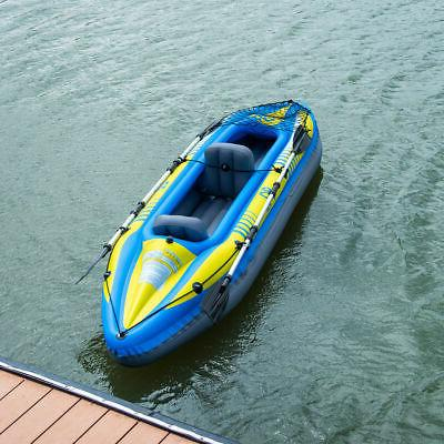 11.5ft 2-Person Inflatable Canoe W/ Pump Paddle Sport