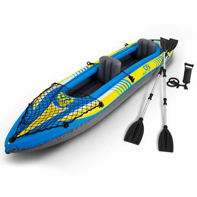 11 5ft goplus 2 person inflatable canoe