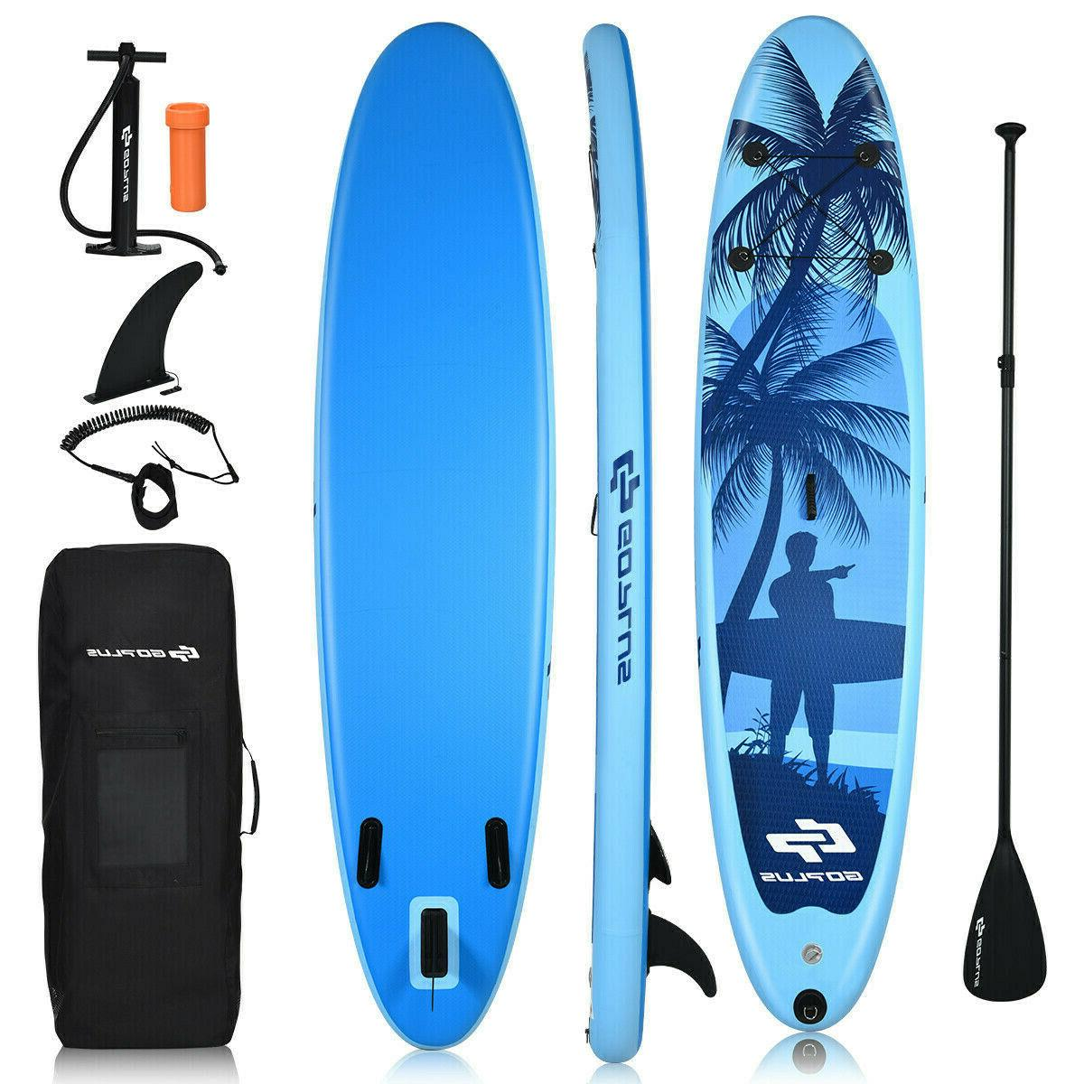 11 Foot Inflatable Stand Up Paddle Board SUP Kayak Blue Surf