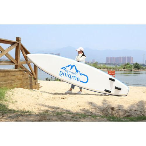 12' Stand Paddle Board Package Fins Paddle
