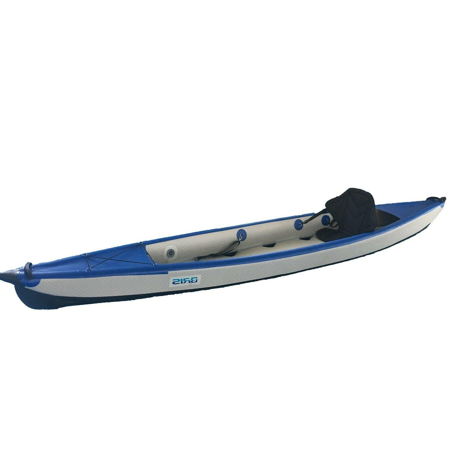 BRIS 13Ft Inflatable Kayak Canoe Boat One