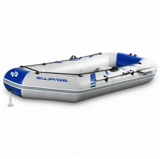 2-3 Person Inflatable Boat Kayak Oars & Aqua Camp Raft