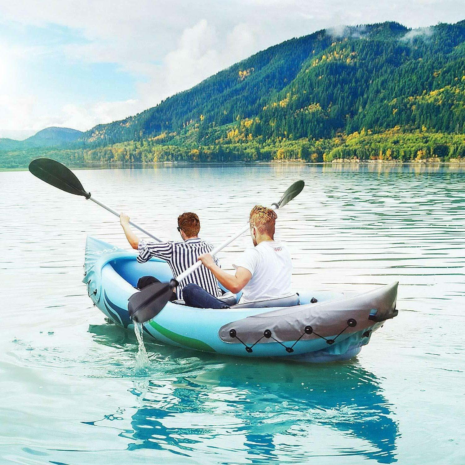 2-Person Inflatable with Aluminum Oars & Foot Pump