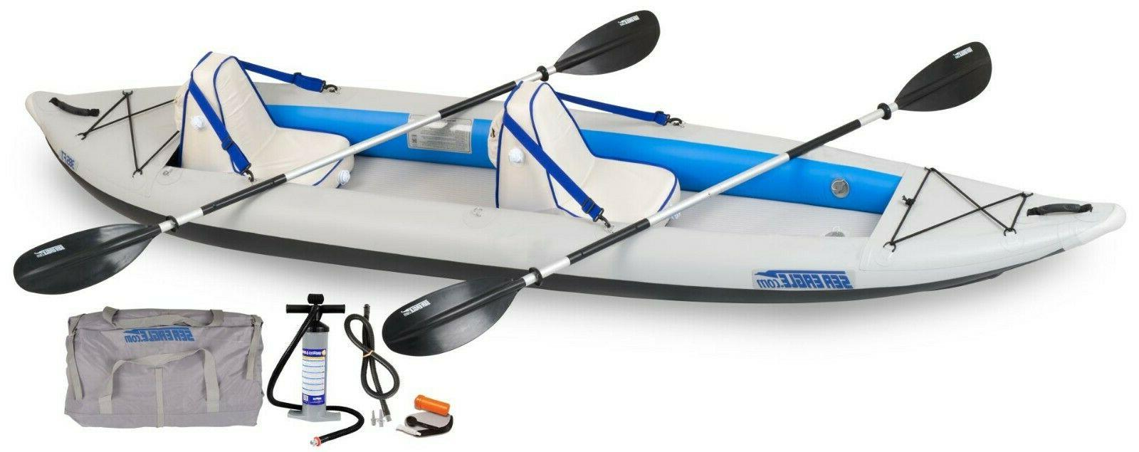 385ft inflatable fast track kayak deluxe package