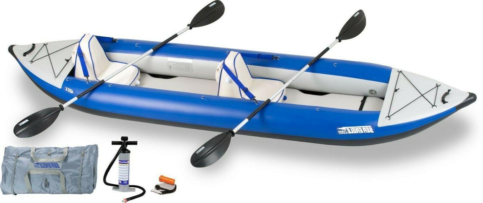 SEA EAGLE 420X DELUXE EXPLORER PACKAGE INFLATABLE KAYAK - PA