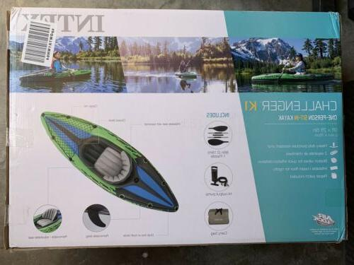 Intex 68305EP Challenger Inflatable Kayak Sit In- SHIP