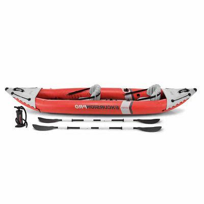 Intex Pro 2 Person Vinyl Kayak with Oars and