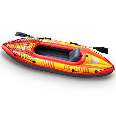 9ft Goplus 1-Person Inflatable Canoe Kayak W/ Pump Water Sport