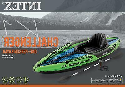 Intex Challenger Inflatable Sporty Kayak w/ Oars And