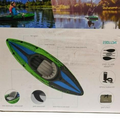Intex Challenger Oars and Green