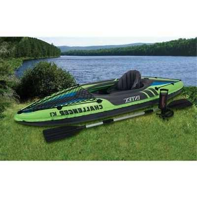 challenger k1 inflatable kayak kit with paddle