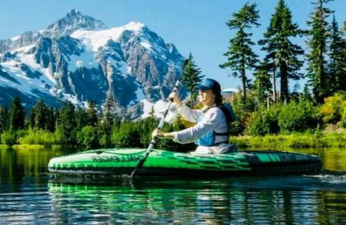 challenger k1 inflatable kayak one person sit