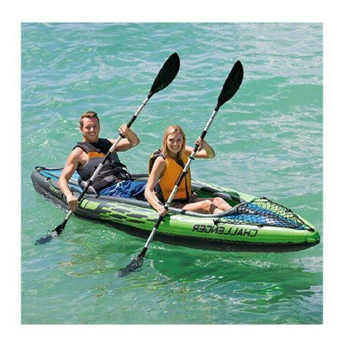 Intex Challenger 2-Person Inflatable Kayak Oars and Pump