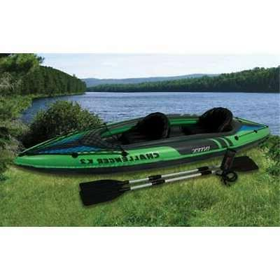 challenger k2 two person inflatable kayak kit