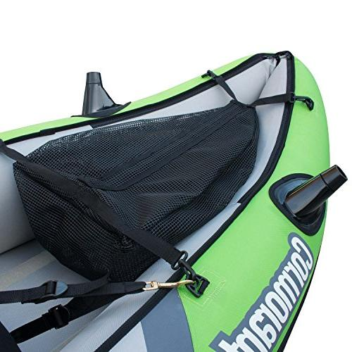 Elkton Person Tandem Kayak, with EVA Padded Seats, Includes 2 Active Mounts, 2 Aluminmum Paddles, Double Pump More