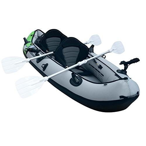 Elkton Outdoors Comorant 2 Person Fishing Kayak, with EVA Padded Seats, Active Rod Holder Mounts, Double More