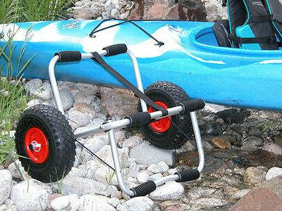 DELUXE KAYAK PADDLE BOARD BOAT TRAILER DOLLY FOLDABLE TRANSP