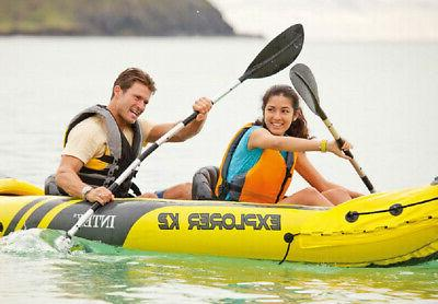 Intex Explorer Inflatable Kayak With And