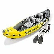 explorer k2 inflatable kayak with oars