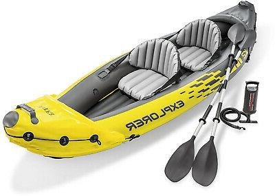 explorer k2 inflatable kayak 2 person adjustable
