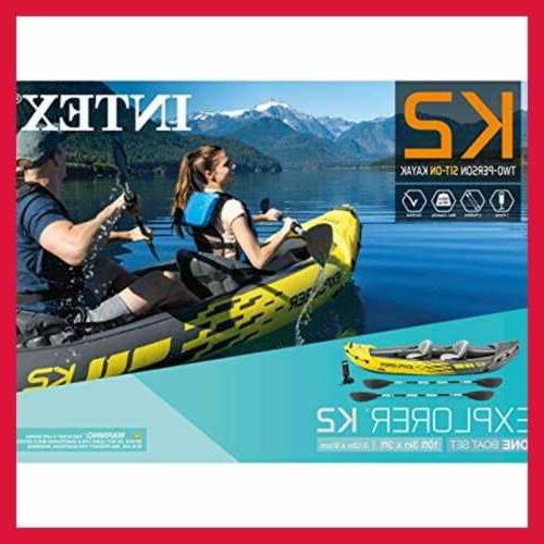 Intex K2 2 Person Inflatable W Oars