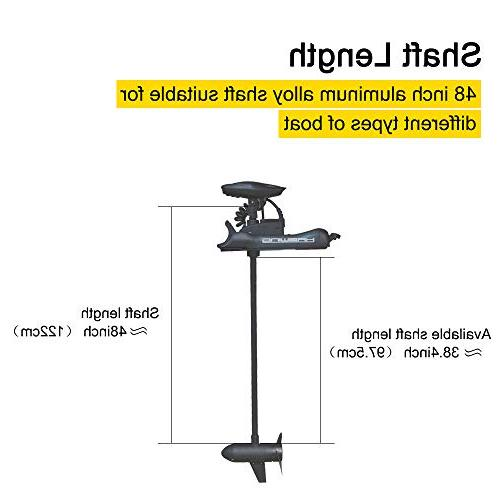 Aquos Mount Electric 12V 55 Lbs Thrust with Wired Foot …