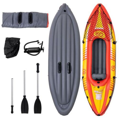 1-Person Canoe Kayak with and Hand Seat
