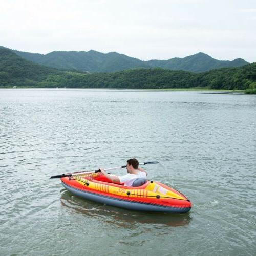1-Person Inflatable Kayak and Pump Seat