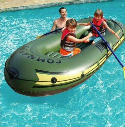 Inflatable Set, 2/3 Person Boat Kayak with Paddle and Foot P