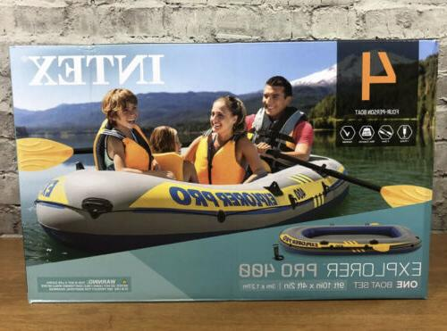 inflatable explorer pro 400 four person boat
